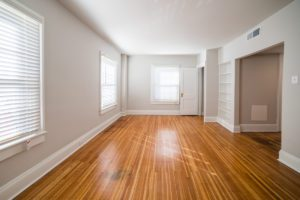 beautiful wood floor in living of apartments